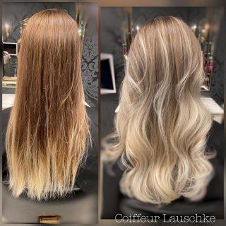 Vorher/Nachher 💞 . . . . . . [Werbung] #hairinspiration #kassel #hairdresser #blondhair #balayagehighlights #love #friseurkassel #olaplex @olaplexdeutschland @revlonprofessional_de #hairtransformation