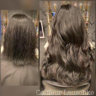 🖤 . . . . [Werbung] #hairinspiration #newhair #longhairdontcare #tapeinextensions #longhair #hairtransformation #darkhair #coiffeurlauschke